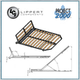 Project 200 sleep and read lift up bed