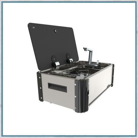 SL1323 Single Burner Hob & Sink Combination Slide-Out Unit