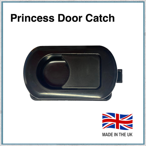 princess motorhome door catch in black
