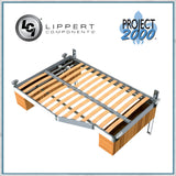 Project 2000 Smart bed frame shown cut to custom shape with electric lifting kit
