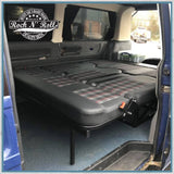 Rusty Lee full width Campervan Bed for VW T4, T5 & T6 folded down