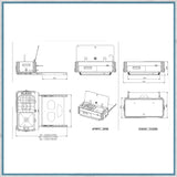 CAN SL1400 Two Burner Hob & Sink Combination Slide-out unit - long side schematic