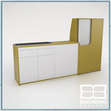 Badabing Vertex SWB Top Loading VW T5/T6 Furniture - Curry Yellow