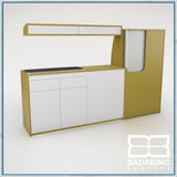 Badabing Vertex SWB Top Loading VW T5/T6 Furniture - Curry Yellow + light box