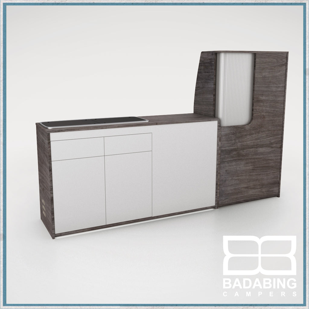 Badabing Vertex SWB Top Loading VW T5/T6 Furniture - Pasadena Pine