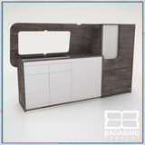 Badabing Vertex SWB Top Loading VW T5/T6 Furniture - Pasadena Pine + splashback