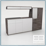 Badabing Vertex SWB Top Loading VW T5/T6 Furniture - Pasadena Pine + light locker