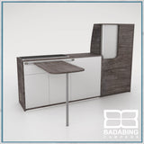 Badabing Vertex SWB Top Loading VW T5/T6 Furniture - Pasadena Pine + table