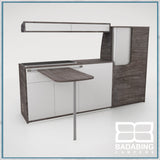 Badabing Vertex SWB Top Loading VW T5/T6 Furniture - Pasadena Pine + table and light locker