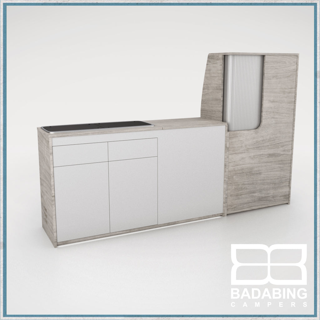 Badabing Vertex SWB Top Loading VW T5/T6 Furniture - Whiteriver