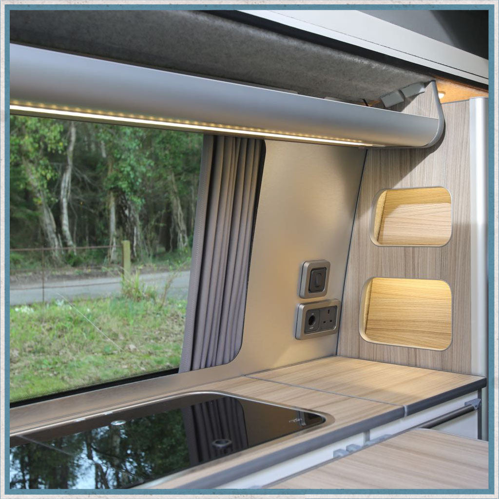 Plastic Capping for Camper Van, Motorhome Aluminium Furniture Corner Profile