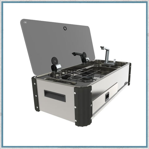 CAN SL1400 Two Burner Hob & Sink Combination Slide-out unit