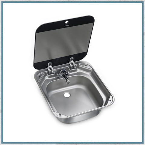 SMEV 8006 - Dometic SNG 4244  Square Sink With Glass Lid