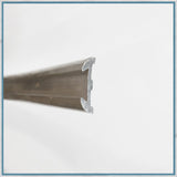 "Unlipped alloy edge/moulding 3/4"" x 12ft coiled"