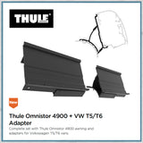 VW T5 T6 Thule omnistor awning for vans with pop-top raising roofs