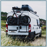 Thule Elite Van XT Black bike rack fitted to a Fiat Ducato, awaiting VW images