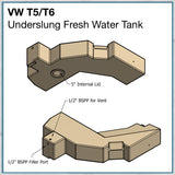 cad drawing of VW T5 T6 underslung tank
