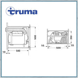 Truma 2E Water and Air heater dimensions