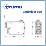 Truma Varioheat eco gas blown air heater sizes