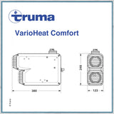 Truma VarioHeat Comfort Blown Air Campervan Motorhome Caravan Heater dimensions