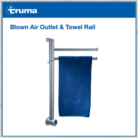 Truma blown air outlet and towel rail