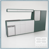 Badabing Vertex LWB VW T5/T6 Furniture With Front Loading Fridge - Niagara Green + light locker