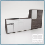 Badabing Vertex LWB VW T5/T6 Furniture With Front Loading Fridge - Pasadena Pine