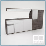 Badabing Vertex LWB VW T5/T6 Furniture With Front Loading Fridge - Pasadena Pine + light locker