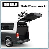 Thule Wanderway 2 - VW T6 Bike Rack can open boot with rack on
