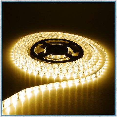 12V Warm White 5 Metre Waterproof LED Lighting Strip