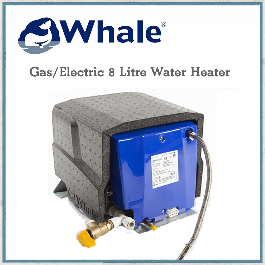 Whale WH0802 8 Litre Water Heater gas and electric