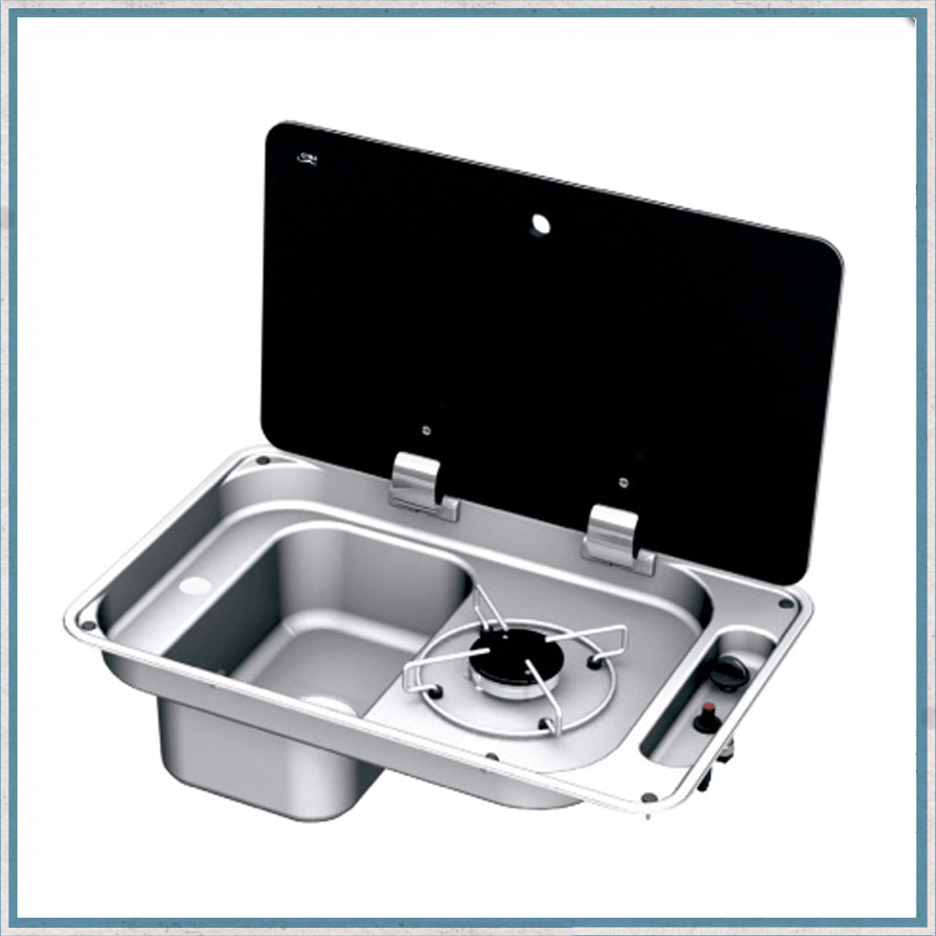CAN FL1323 Single burner and sink combination unit with left hand sink