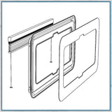 Cappuccino Cellular Thermal Window B - VW T5 T6 SWB/LWB - Front Window Pod - Passenger Side Slider (aftermarket)