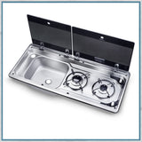 Replacement glass lids for dometic 9722 hob unit with Left hand sink