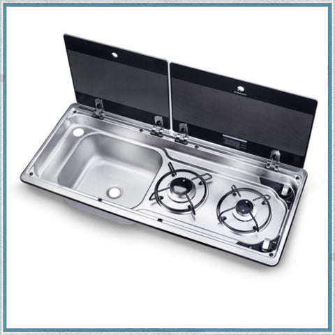 Smev 9722 - Dometic MO9722 Slimline Combination Hob and Sink for camper vans, motorhomes and caravans