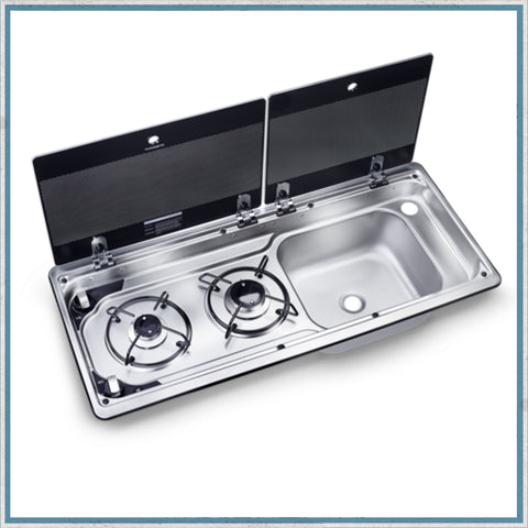 Replacement glass lids for dometic 9722 hob unit with Right hand sink