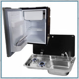 CAN GR1760 Hob/Sink & Vitrifrigo GR50 Fridge Set