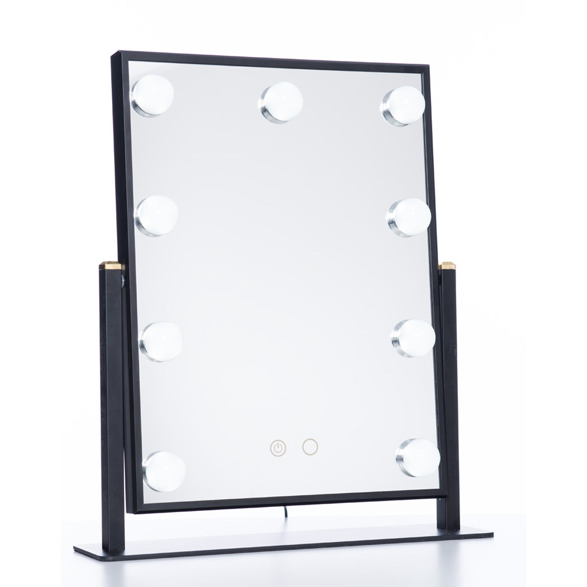 LumiPop - Hollywood Mirror med kaldt/varmt lys 9 LED - Svart