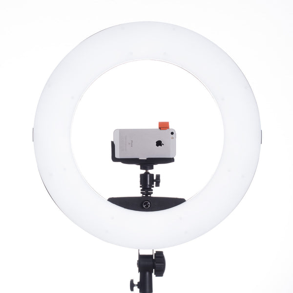 Lumipop - Vlog Ring Light & Vanity MIrror Liquorice - Komplett Kit med Stativ og Bordstativ