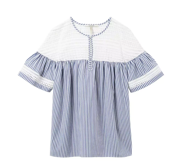 Scotch & Soda Short Sleeve Stripe Top