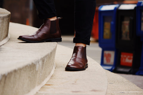Dark Brown Chelsea Boots - Jenet & Jones
