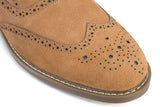 Tanned Suede Brogues - Jenet & Jones