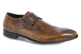Alexander Single Monk Shoe - Brown - Jenet & Jones
