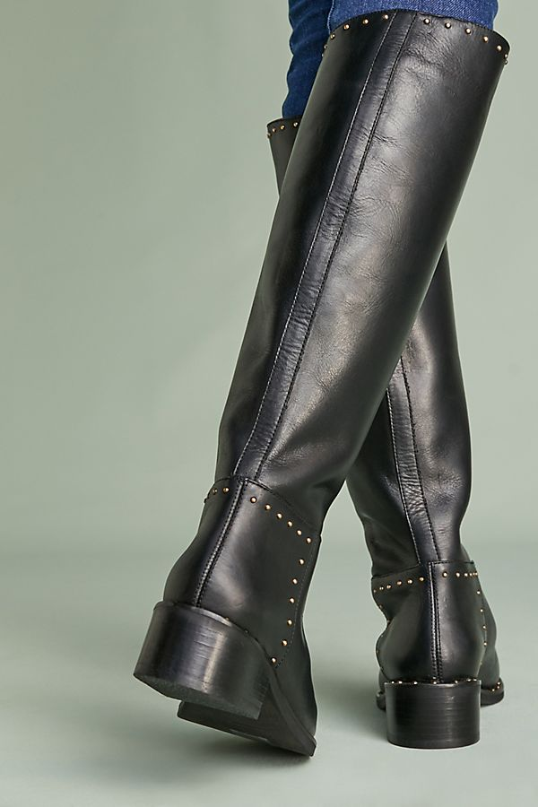 Zipa ridding boots in black leather