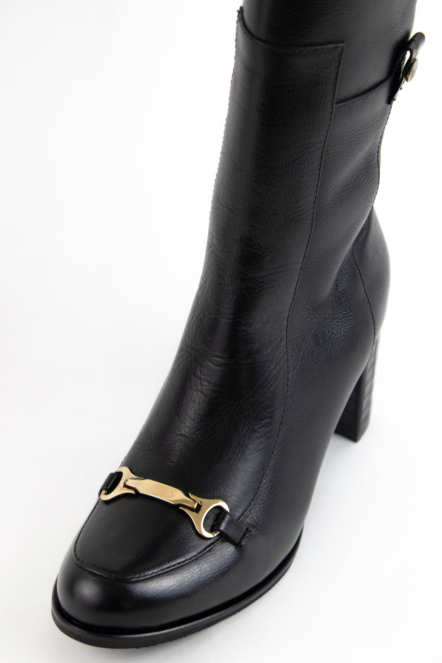 Seville knee high boots in black leather