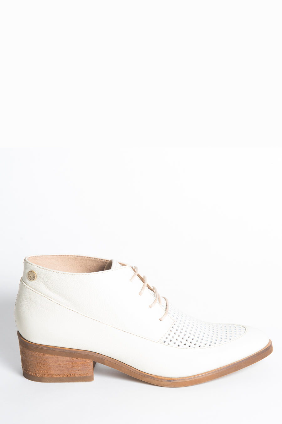 Berlin booties in ivory leather