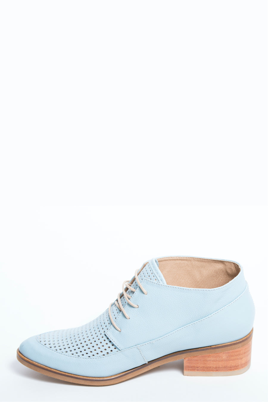Berlin booties in soft blue leather