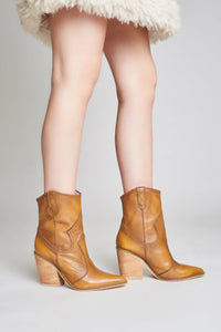Strength - leather booties - STIVALI