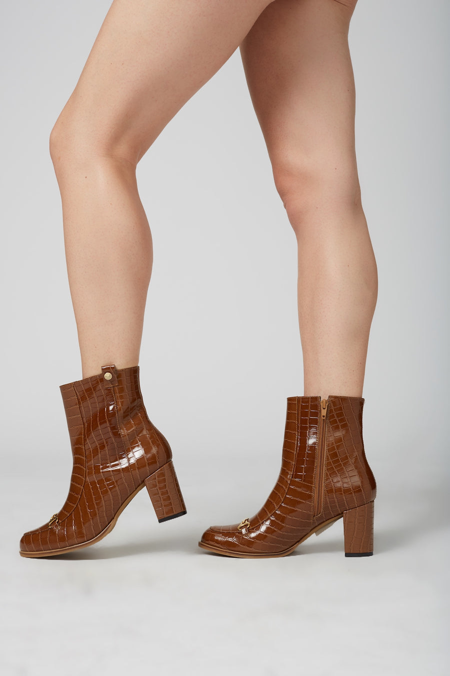 Hamburg ankle boots in tan leather