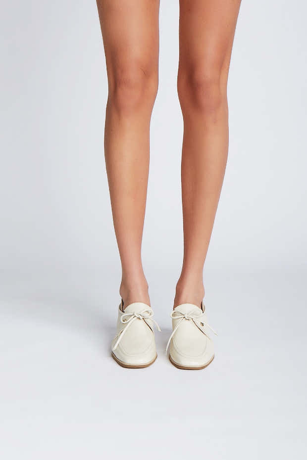 Focus heeled loafers in ivory/arequipe leather 1